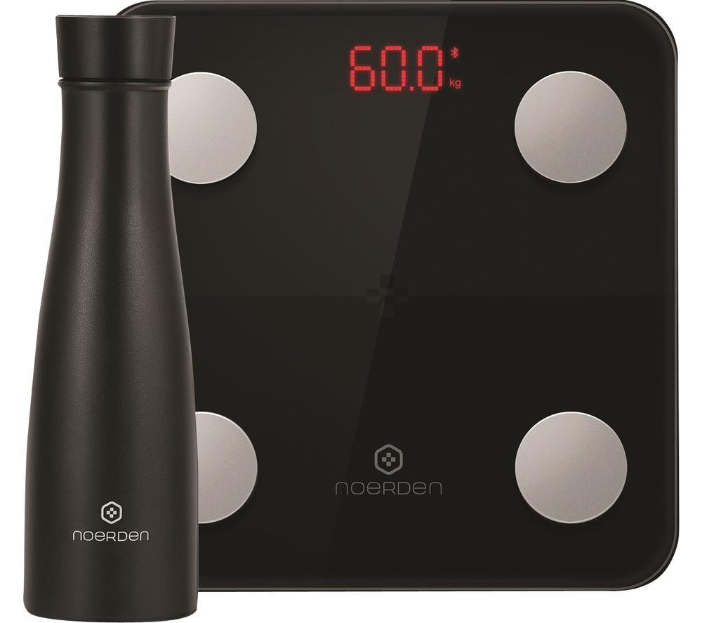 NOERDEN LIZ Smart Bottle & Minimi Smart Scale Bundle - Black, Black