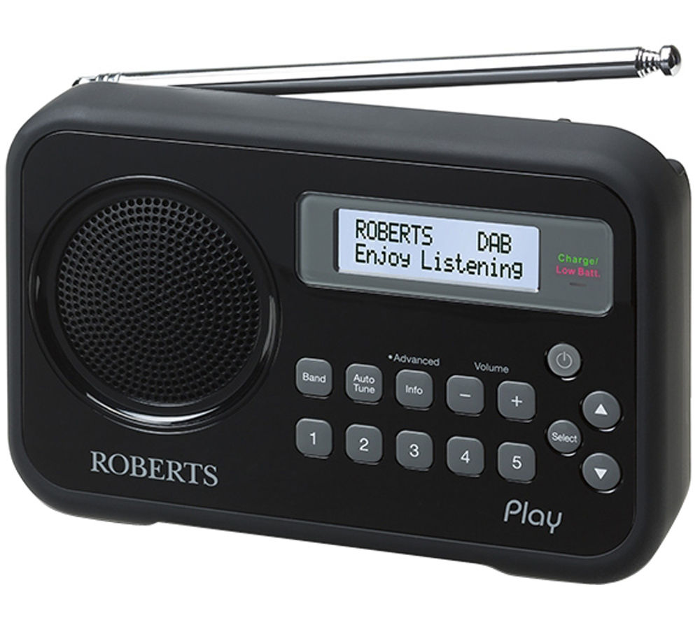 buy roberts play portable dab radio black free. Black Bedroom Furniture Sets. Home Design Ideas