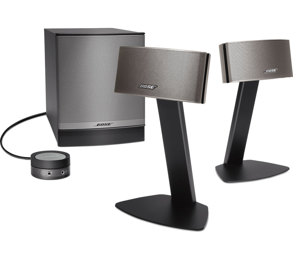 bose companion 50 2 1 pc speakers silver silver 299. Black Bedroom Furniture Sets. Home Design Ideas