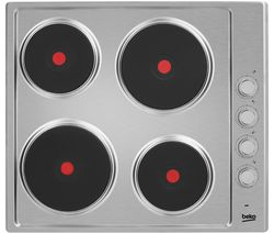 BEKO HIZE64101X Electric Solid Plate Hob - Stainless Steel Best Price, Cheapest Prices