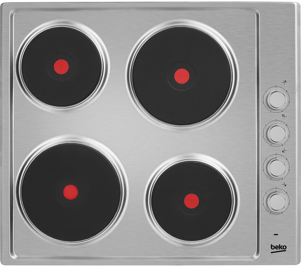 BEKO HIZE64101X Electric Solid Plate Hob - Stainless Steel