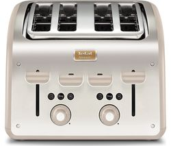 TEFAL Maison TT770AUK 4-Slice Toaster - Stainless Steel & Oatmeal Grey