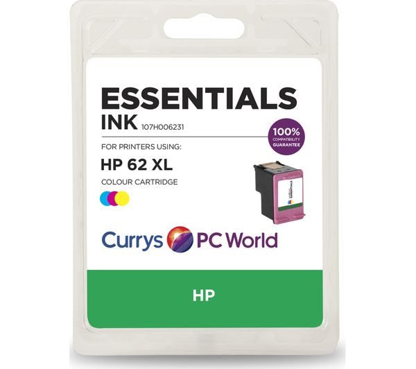 Image of ESSENTIALS 62 XL Tri-Colour HP Ink Cartridge