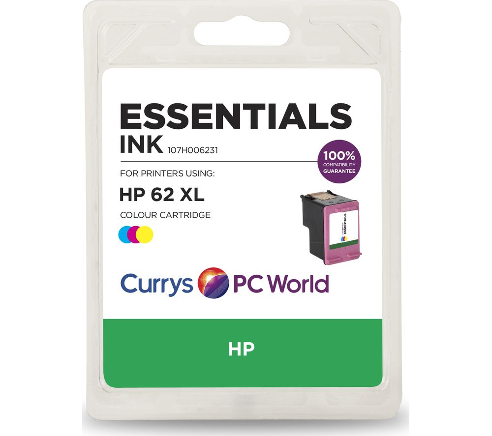 Cheapest price of Essentials 62 XL Tri-Colour HP Ink Cartridge in new is £24.99