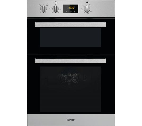 Image of INDESIT Aria IDD 6340 IX Electric Double Oven - Stainless Steel