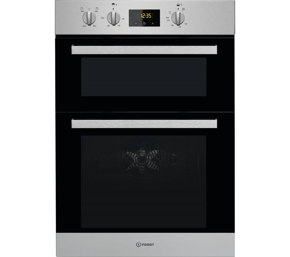 INDESIT Aria IDD 6340 IX Electric Double Oven - Stainless Steel