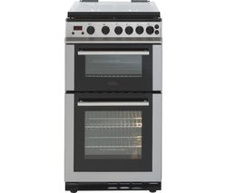 BELLING FS50GDOLm 50 cm Gas Cooker - Stainless Steel & Black