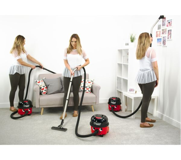 NUMATIC Henry Cordless Vacuum Cleaner Red Currys