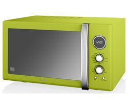 SWAN SM22080LN Retro Microwave with Grill - Lime