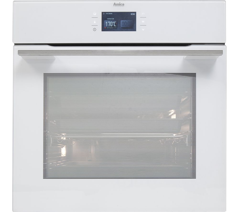AMICA 1143.3TfWA Single Electric Oven - White