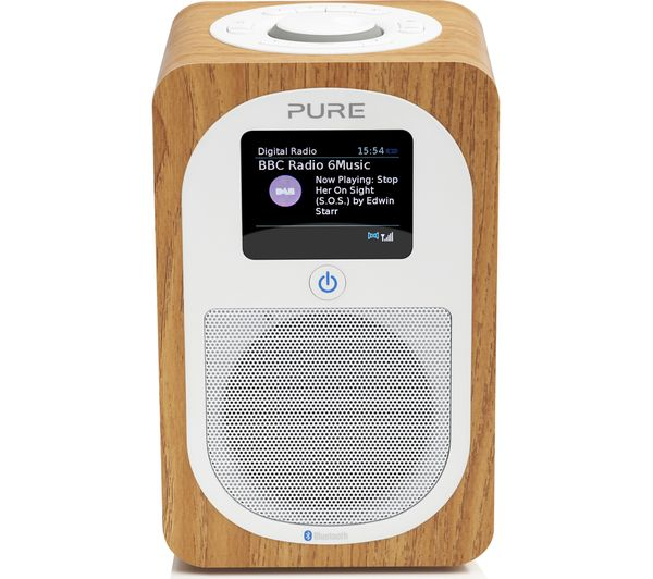 Image of PURE Evoke H3 Portable DAB/FM Bluetooth Clock Radio - Oak