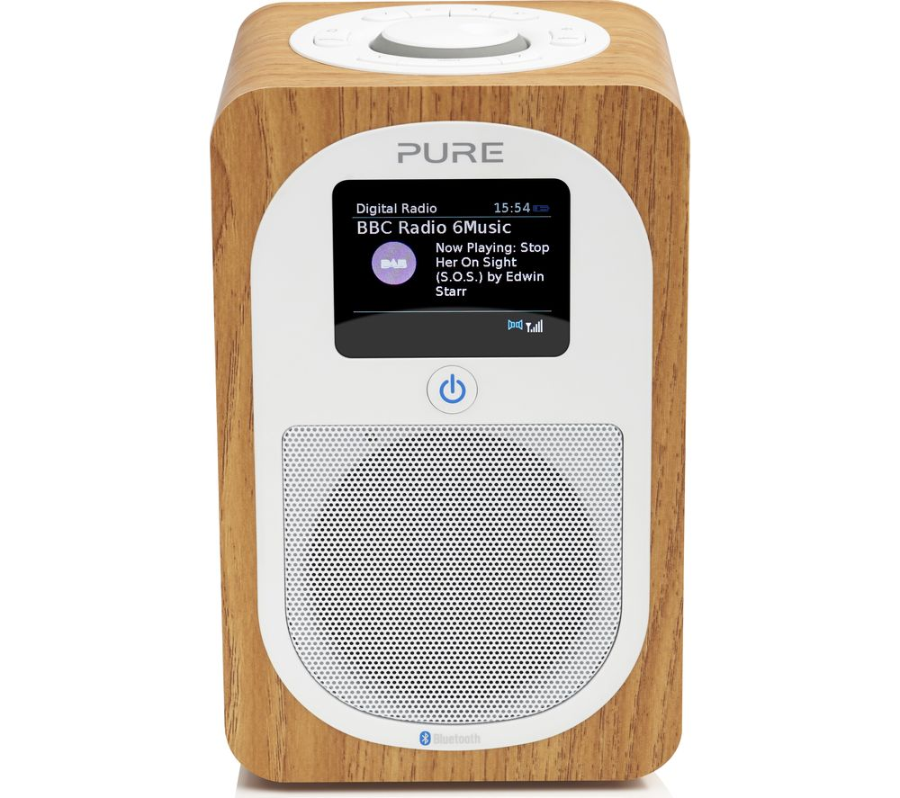 PURE Evoke H3 Portable DAB/FM Bluetooth Radio - Oak