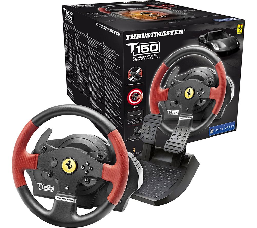 THRUSTMASTER TS150 Ferrari Edition PlayStation & PC Gaming Wheel - Black