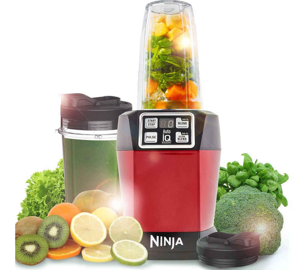 NINJA BL480UKMR Blender - Metallic Red, Red