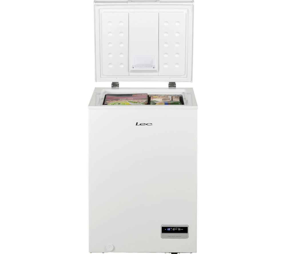 LEC CF100L Chest Freezer - White, White