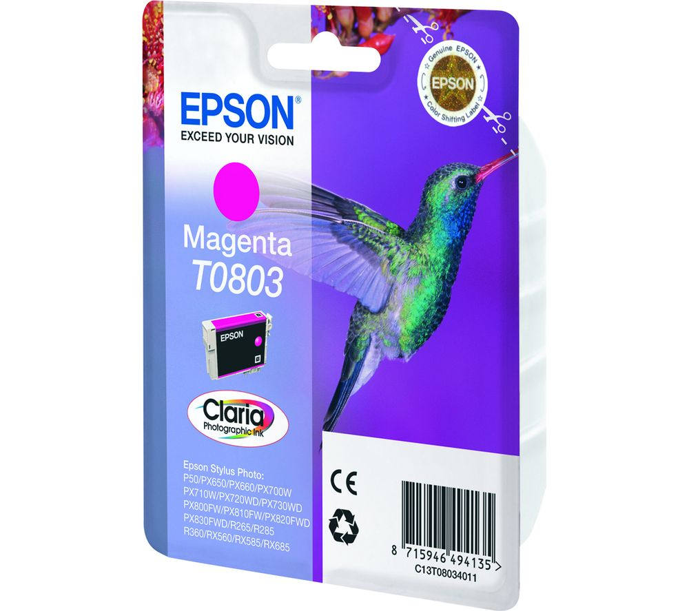 EPSON T0803 Hummingbird Magenta Ink Cartridge