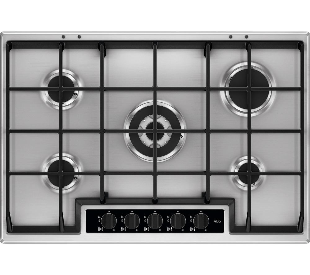 AEG HG75SY5451 Gas Hob – Stainless Steel, Stainless Steel