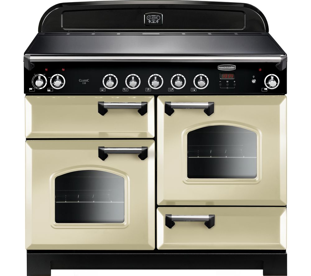 RANGEMASTER Classic 110 cm Electric Induction Range Cooker - Cream & Chrome