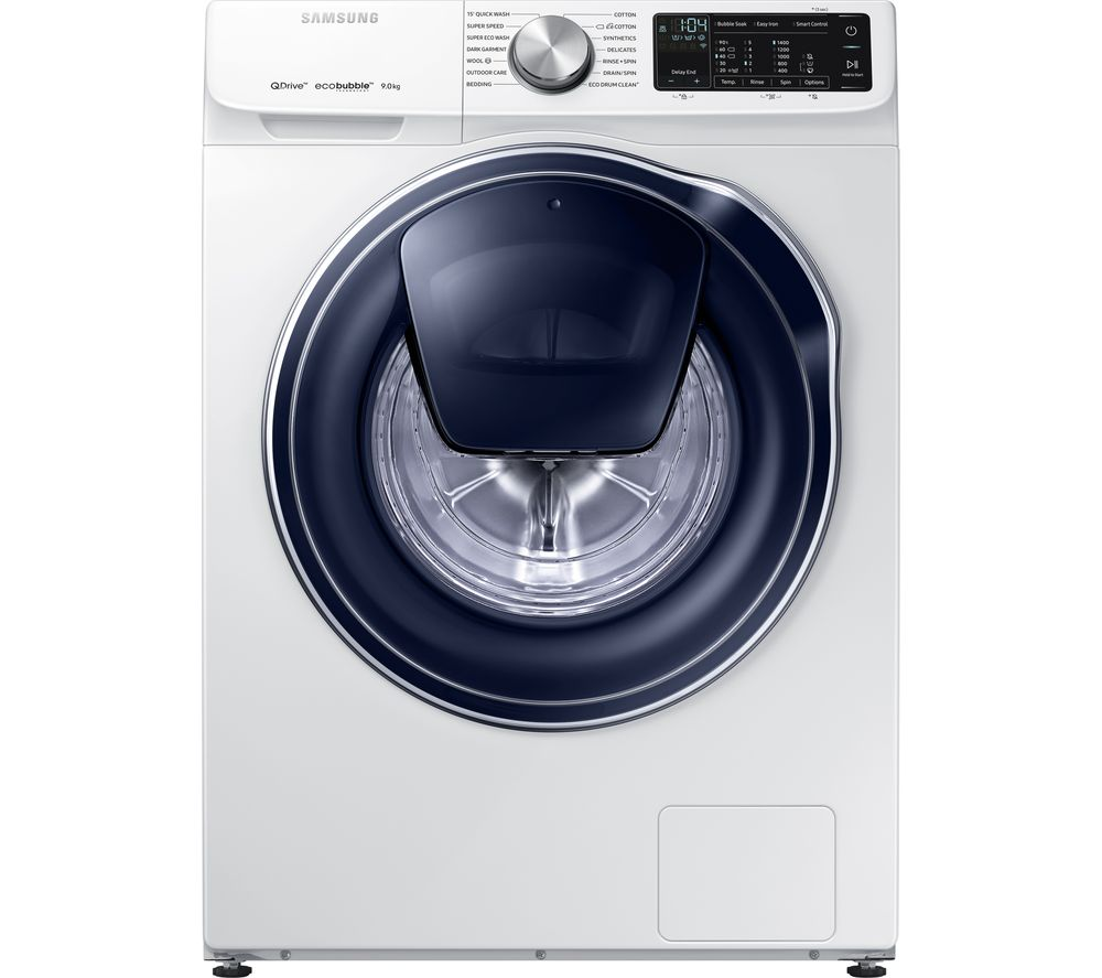 SAMSUNG QuickDrive + AddWash WW90M645OPW Smart 9 kg 1400 Spin Washing Machine - White