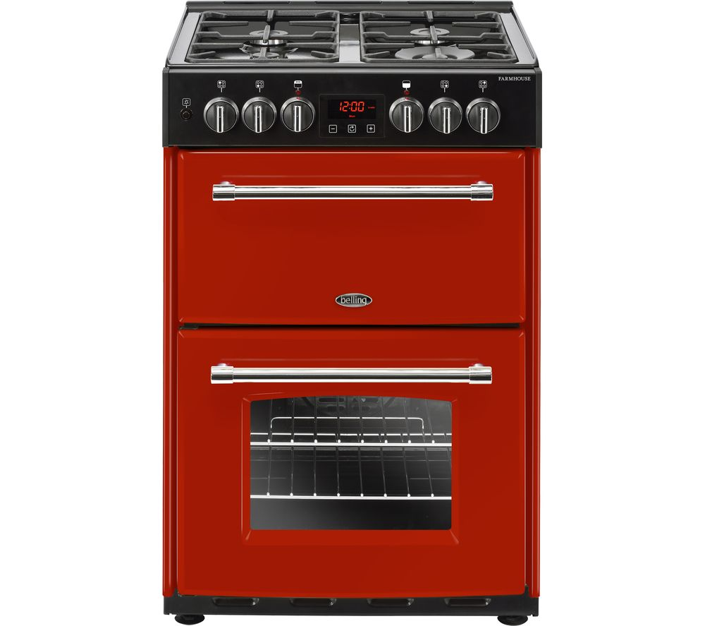 BELLING Farmhouse 60DF Hja Dual Fuel Cooker - Jalapeno Red
