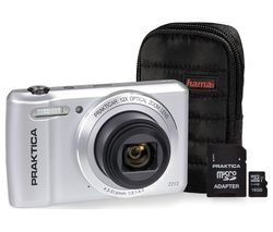 PRAKTICA Luxmedia Z212-S Compact Camera & Accessories Bundle - Silver