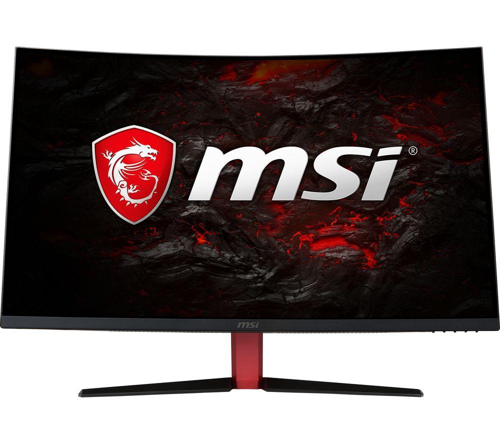 """MSI Optix AG32C Full HD 31.5"""" Curved LED Monitor - Red & Black"""