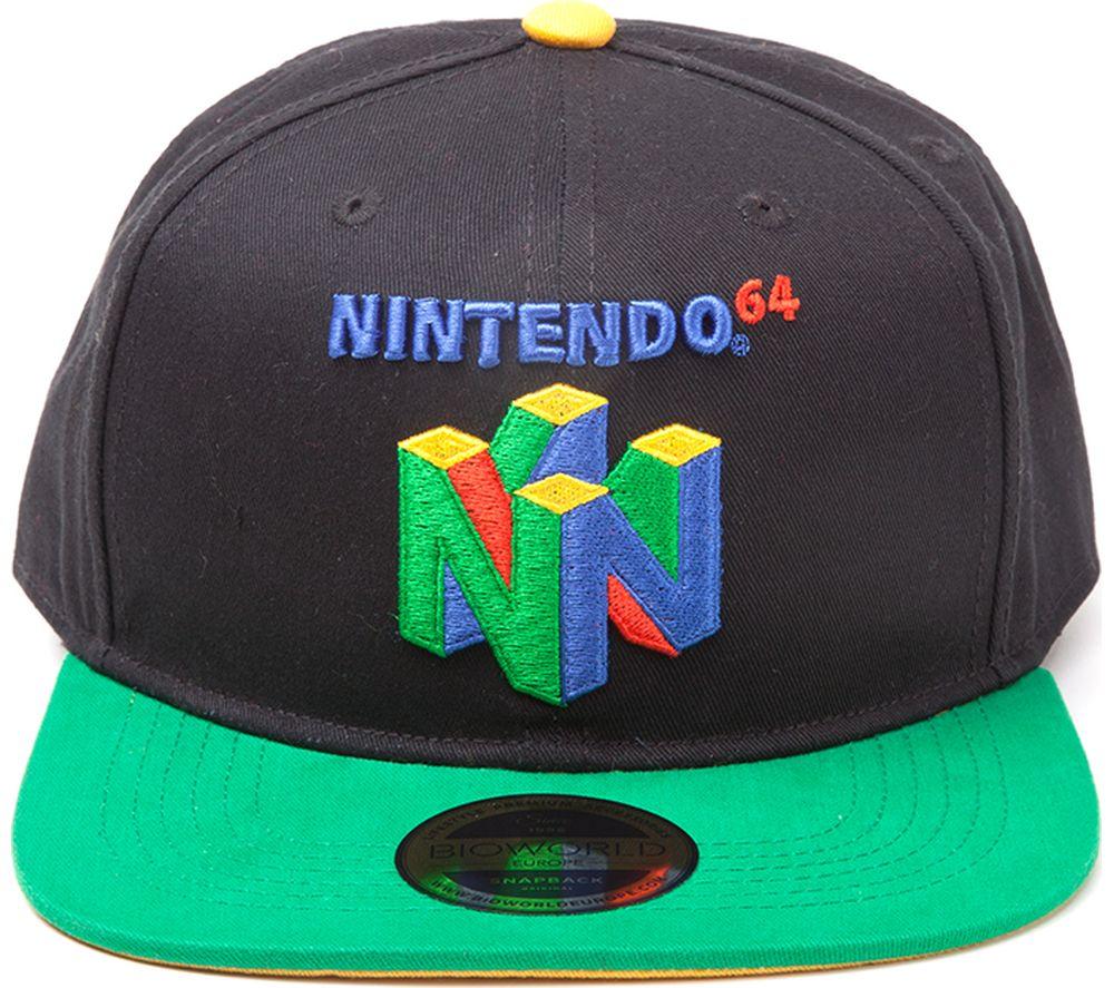 NINTENDO N64 Logo Snapback Hat - Black & Green