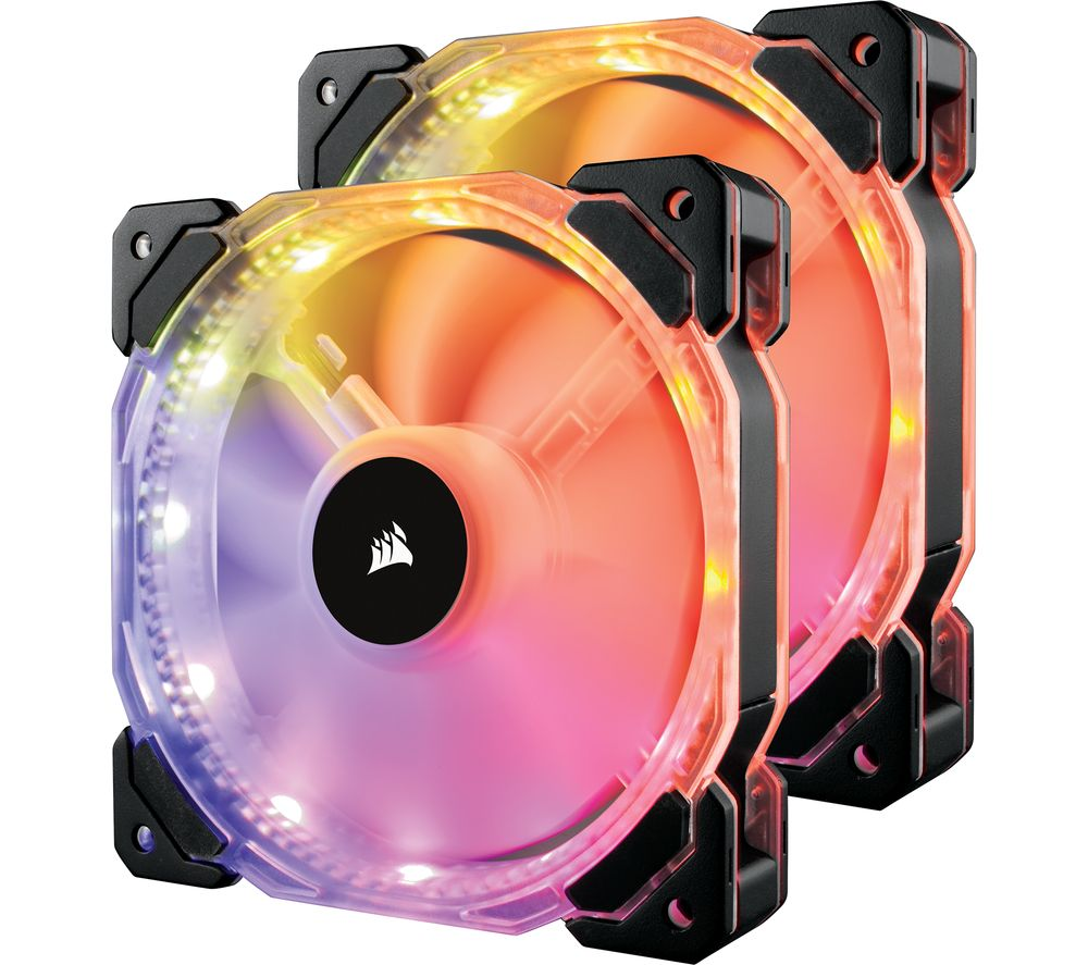 CORSAIR HD Series 140 mm Case Fan - Twin Pack, RGB LED