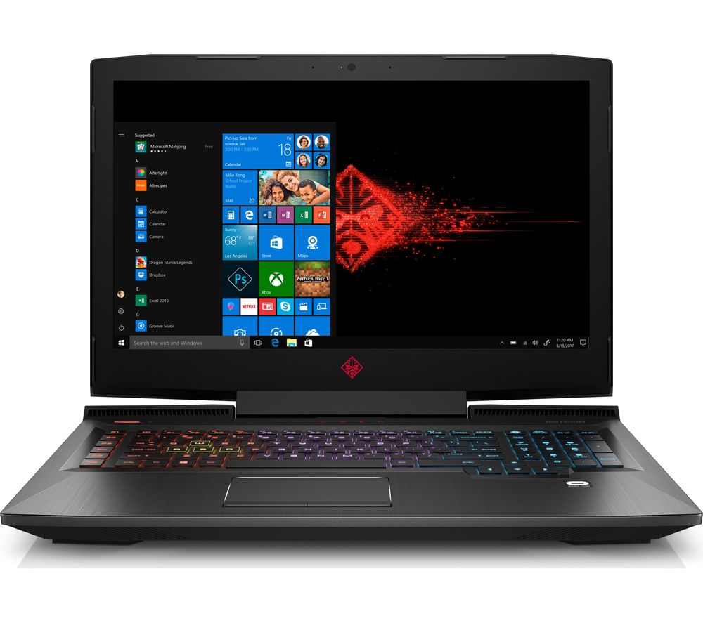 "HP OMEN 17-an155na 17.3"" Intel® Core™ i7 GTX 1070 Gaming Laptop - 1 TB HDD & 256 SSD"
