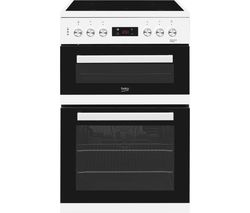 BEKO XDC653W 60 cm Electric Ceramic Cooker - White Best Price, Cheapest Prices