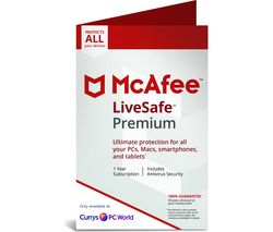 MCAFEE LiveSafe Premium 2019 - 1 year for unlimited devices