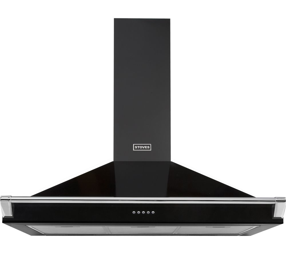 STOVES Richmond S900 Chimney Cooker Hood - Black