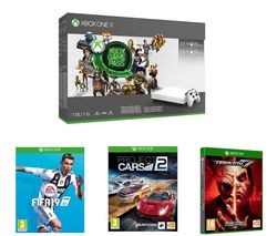 MICROSOFT Xbox One X, 3-Month Game Pass, LIVE Gold Membership, FIFA 19, Tekken 7 & Project Cars 2 Bundle