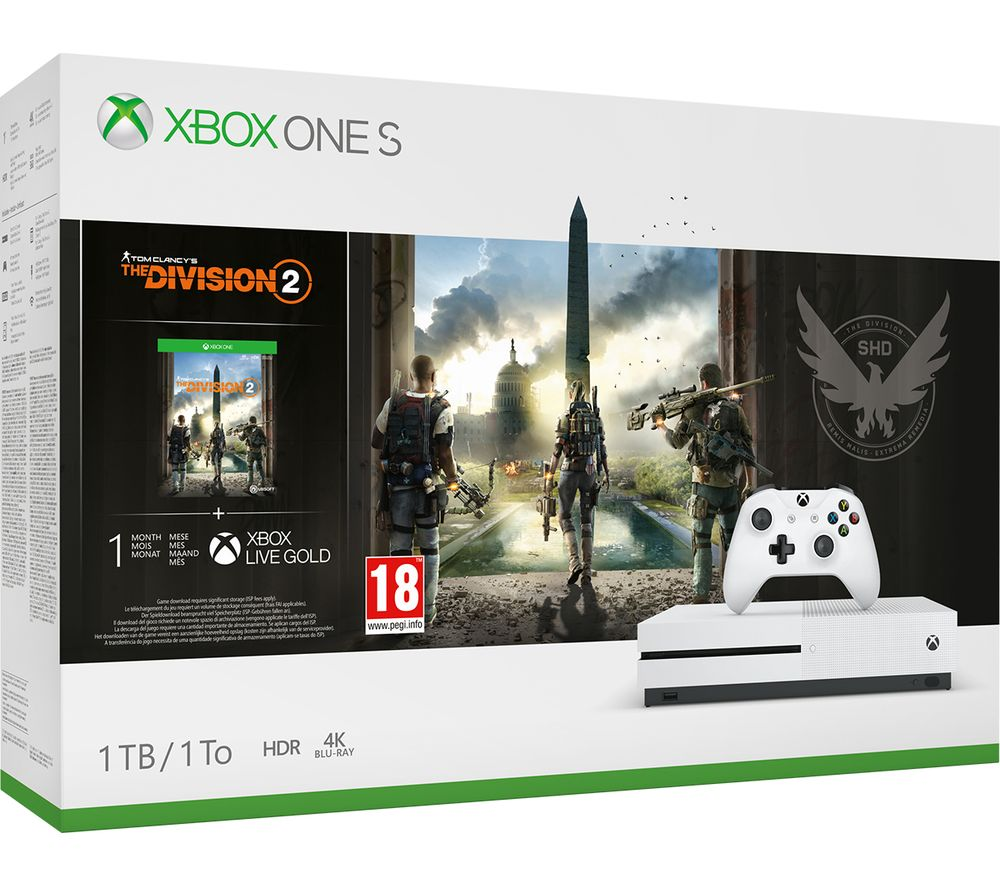 MICROSOFT Xbox One S with Tom Clancy's The Division 2