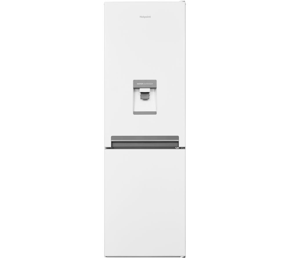 HOTPOINT Day1 H8 A1E W WTD UK.1 70/30 Fridge Freezer - White, White