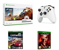 MICROSOFT Xbox One S, Forza Horizon 4, Apex Legends, Project Cars 2, Tekken 7 & Wireless Controller Bundle