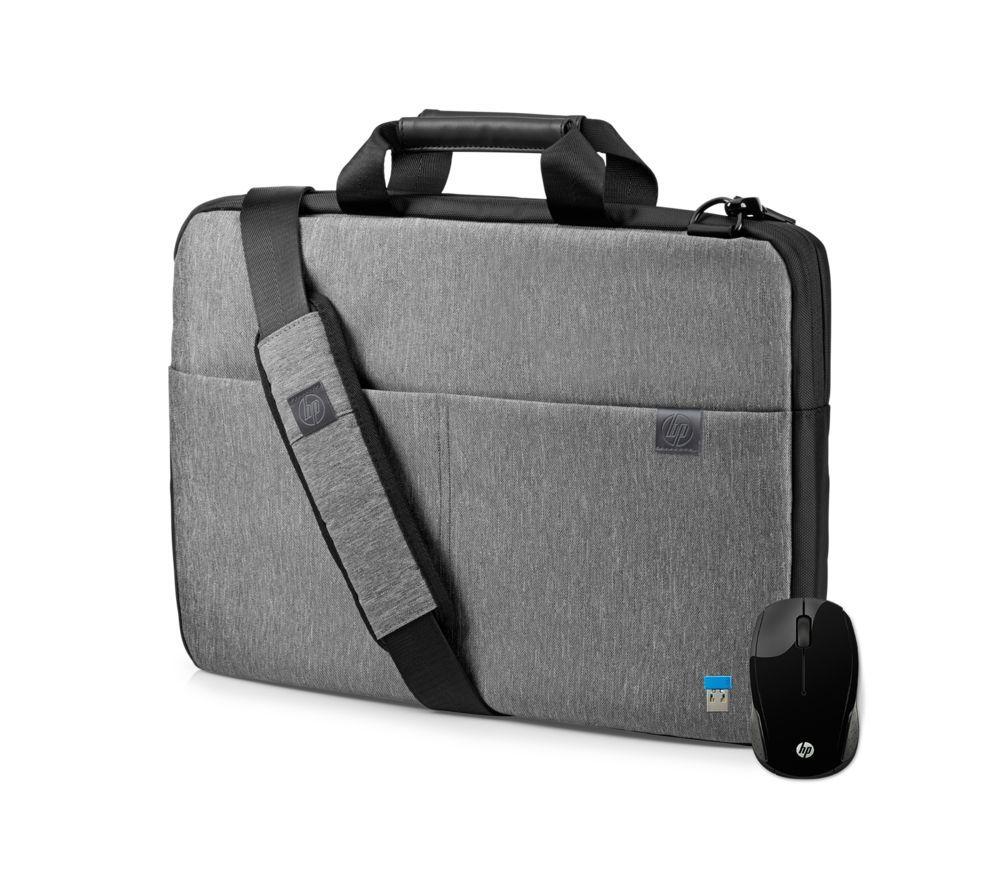 "HP L6V67AA-BUN 14"" Signature Slim Topload Laptop Case & Wireless Mouse Bundle - Grey"