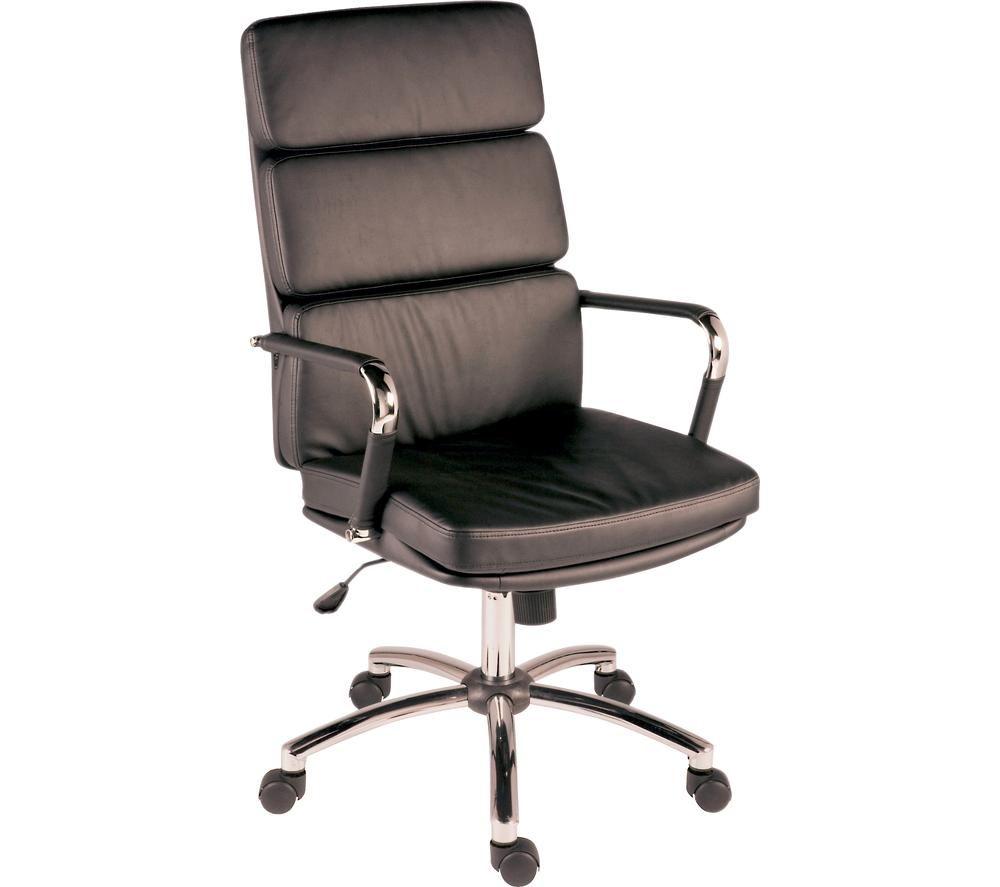 TEKNIK Deco 1097BLK Faux-Leather Tilting Executive Chair - Black