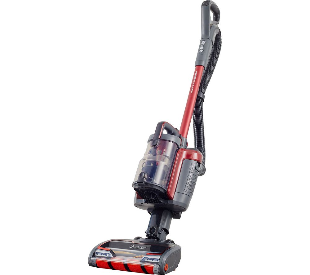 Image of SHARK DuoClean Anti Hair Wrap ICZ160UKT Cordless Vacuum Cleaner with Powered Lift-Away and TruePet - Red, Red