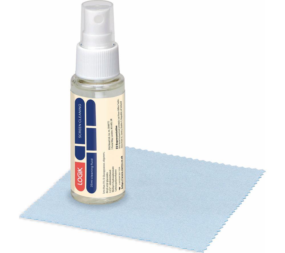 LOGIK LSC35ML20 Screen Cleaning Fluid & Cloth - 35 mm