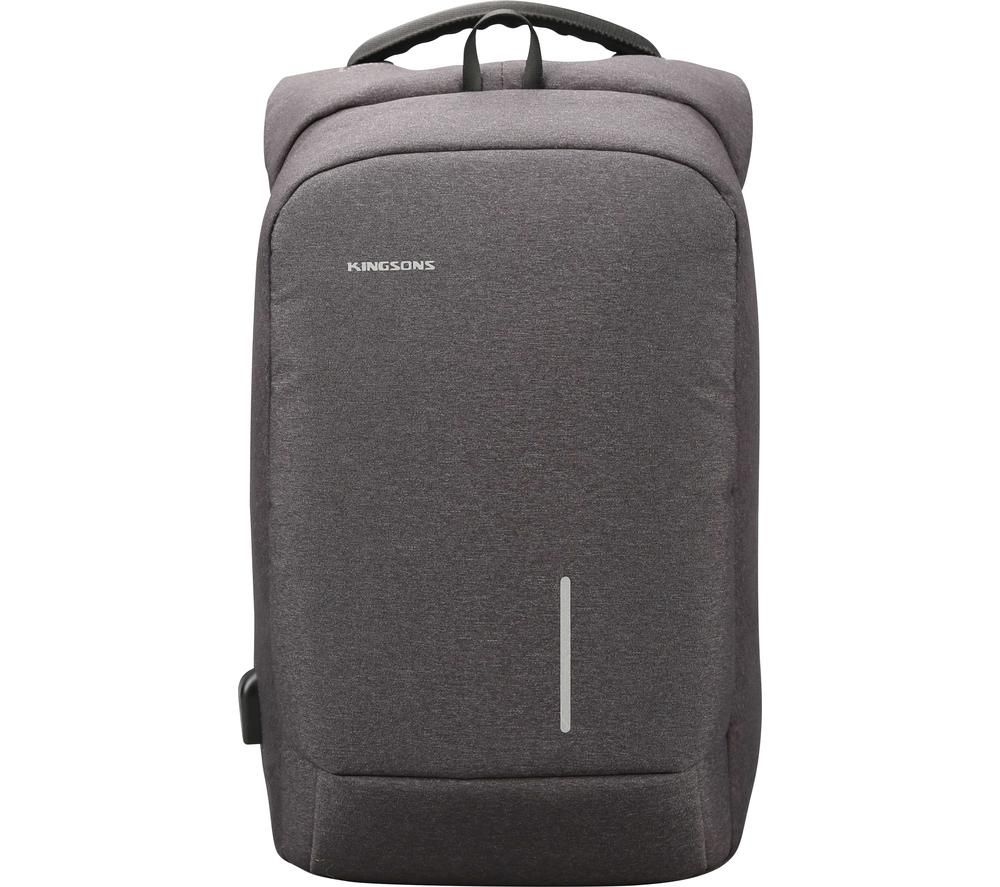 "Image of KINGSONS KS3149W-DG〃153 15.6"" Laptop Backpack - Dark Grey, Grey"