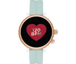 Image of KATE SPADE Scallop Sport KST2020 Smartwatch - Light Green & Rose Gold, Silicone Strap, 41 mm