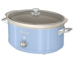 SWAN Retro SF17031BLN Slow Cooker - Blue Best Price, Cheapest Prices