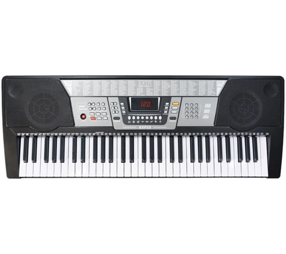 AXUS AXP10 Electronic Keyboard - Black