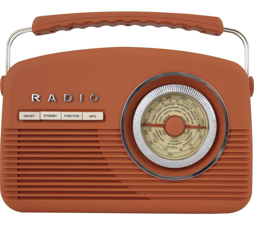 Image of AKAI Vintage A60010VDABBO Portable DABﱓ Radio - Burnt Orange, Orange