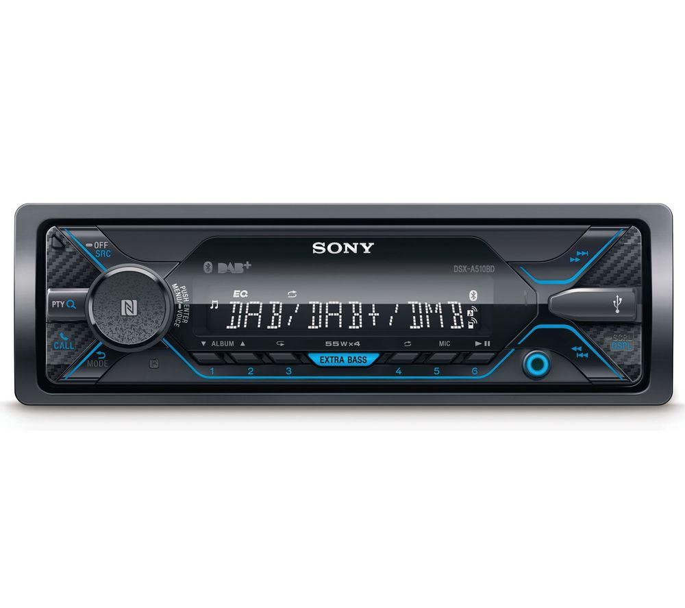 SONY DSX-A510KIT Smart Bluetooth Car Radio - Black, Black