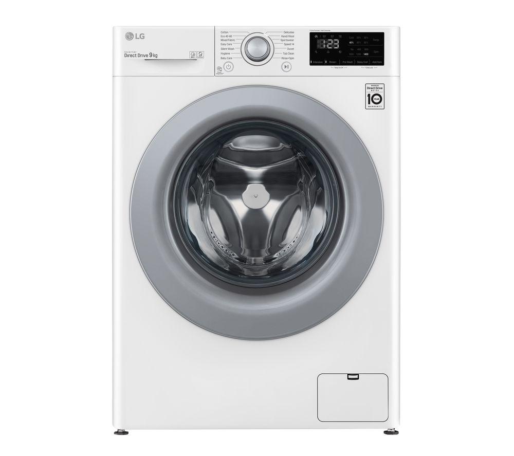 LG AI DD V3 F4V309WNE 9 kg 1400 Spin Washing Machine - White