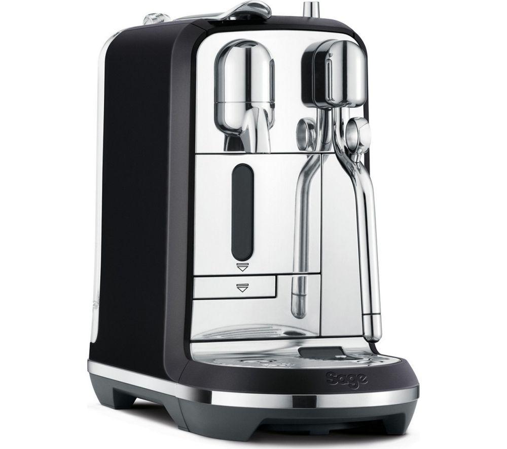 NESPRESSO by Sage Creatista Plus SNE800BTR Coffee Machine - Black, Black