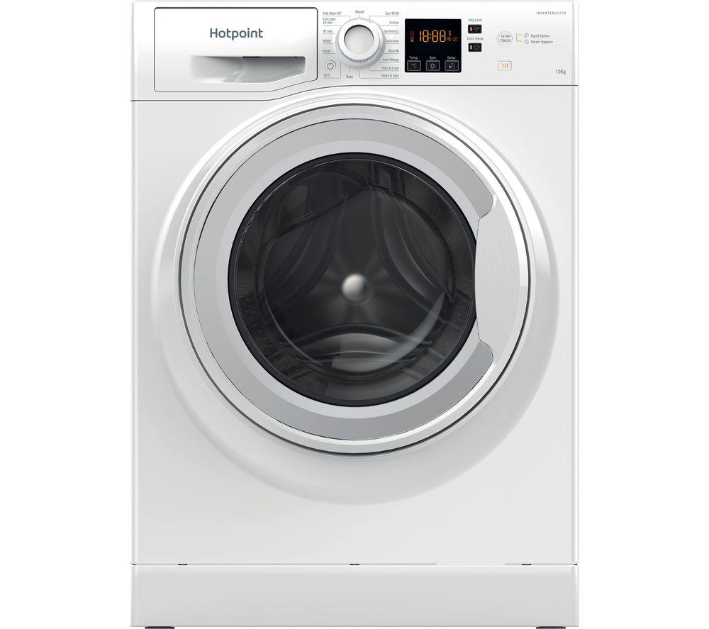 HOTPOINT Core NSWM 1043C W UK N 10 kg 1400 Spin Washing Machine - White, White