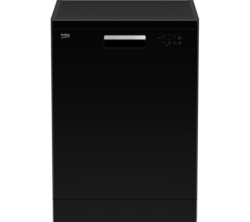 BEKO DFN16X21B Full-size Dishwasher - Black, Black
